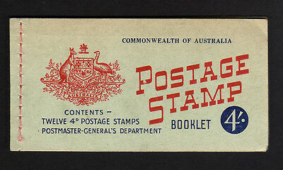 AUSTRALIA 1957 4/- COMPLETE BOOKLET WITH INTERLEAVES SB34a.
