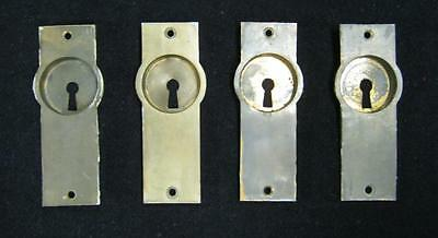 Set of 4 Brass Pocket Door Recessed Finger Pulls #2038-13