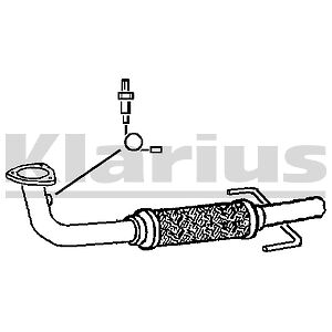 VAUXHALL VECTRA 2.2i 16v EXHAUST FRONT DOWN PIPE & FLEXI 02-04 100% QUALITY