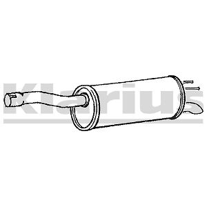 Replacement Exhaust Rear Back Box Silencer 2 Year Warranty - Brand New!