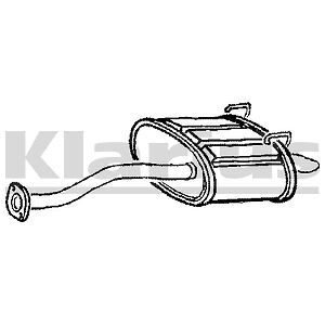 HONDA CIVIC VII EU,EP,EV 1.6i Hatchback back box 2001-2005 Exhaust Rear Silencer