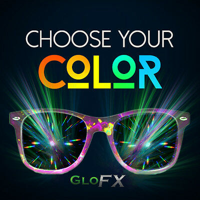 GloFX Brand Ultimate Diffraction Glasses: Tons of Colors! Double Defraction Rave