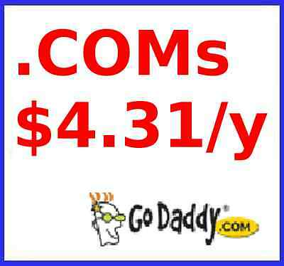 .COM domain names at GoDaddy max 5 domains for under $5! Coupon link discount