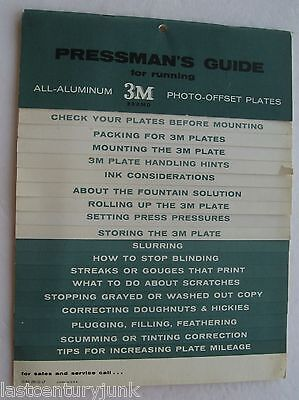 Pressmans's Guide For Running All Aluminum 3M Photo Offset Plate