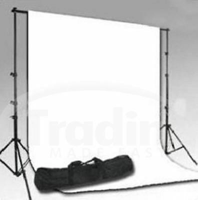 Professional Photo Studio Kit.. White Backdrop /Background/Carry Case/Portable