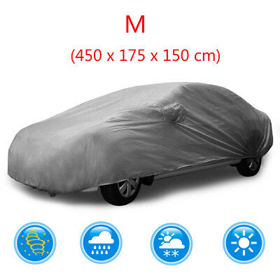 Full Car Cover Waterproof Sun UV Snow Dust Rain Resistant Protection Size M