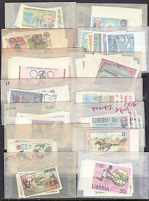 Liberia 30 Differnt MNH Complete IMPERF Sets Many Margins