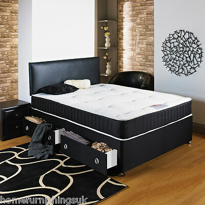 4ft Small Double Divan Bed With Mattress.22cm Deep! RRP £299