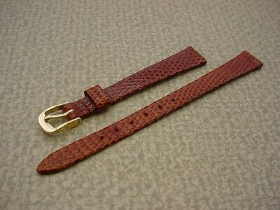 Ladies Speidel NOS 11mm #R129330BR Brown Iguana Lizard Leather Watch Band W2275