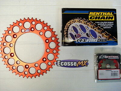 HONDA CR125 Renthal H/D Chain And Sprocket Kit RED