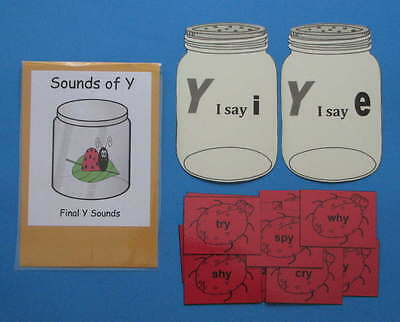 Teacher Made Literacy Center Resource Game Sounds of Y