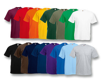 5er FRUIT OF THE LOOM T SHIRT SETS M L XL XXL XXXL 4XL 5XL HERREN SHIRTS FARBSET