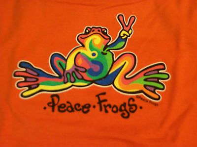 Peace Frogs Orange Retro Toddler 2T T-Shirt