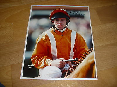 John EGAN  Horse Racing Jockey  02/05/98  Original Hand SIGNED Press Photo