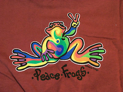 Peace Frogs Maroon Retro Toddler 2T T-Shirt