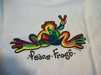 Peace Frogs White Retro Toddler 5/6T T-Shirt