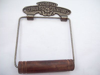 Antique Iron Vintage victorian Decorative old style Toilet Roll Holder