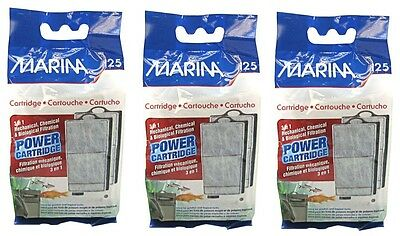 3 x Marina i25 Aquarium Filter Replacement Power Cartridges Tropical Fish Discus