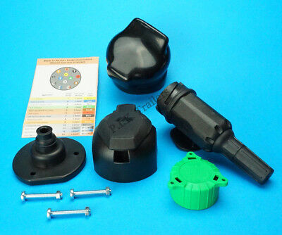 Professional Grade 13 Pin Plug & Socket with Seal & Cover for Towing Caravans