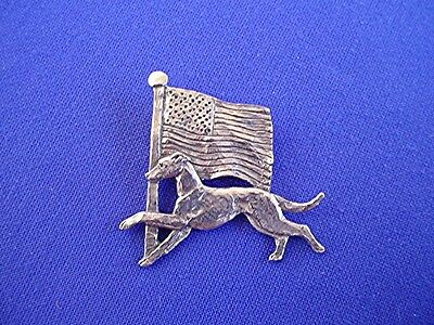"Whippet Greyhound ""American"" pin #11S Pewter Dog Jewelry by Cindy A. Conter"