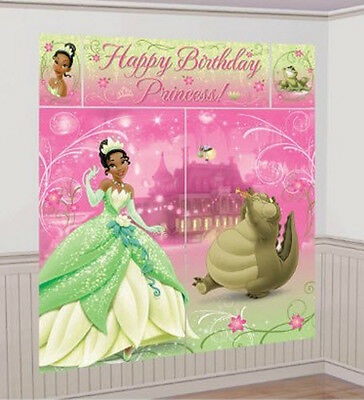 Princess Tiana Scene Setter Happy Birthday Party Wall Decoration