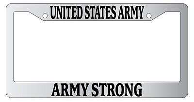 Black License Plate Frame United States Army HOOAH Auto Accessory Novelty 161