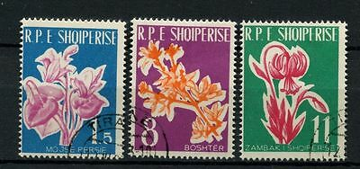 Albania 1961 SG#679-681 Flowers Cto Used Set #A41093