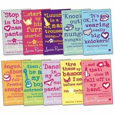 Conffession of Georgia Nicolson Collection Louise Rennison 10 Books Set NEW