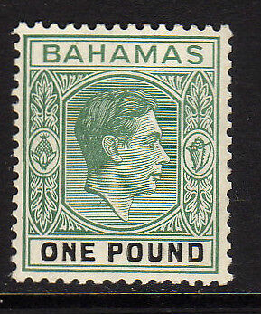 Bahamas 1938 £1 Deep Grey-Green & Black Sg 157 Mnh.