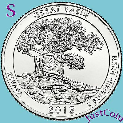 2013-S Great Basin Quarter National Park (Nevada) Uncirculated From Mint Roll
