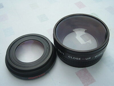 Ambico Video V-0311 Close up-Micro & Wide View angle Auxiliary Lenses Set