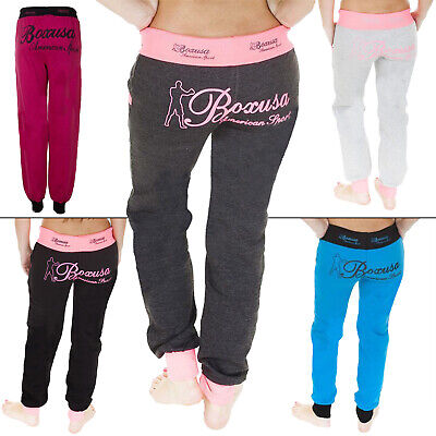 Womens Ladies American Sport Tracksuit Jogging Joggers Bottom Trousers S M L XL