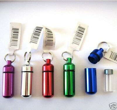 New 6pc Small Pill / ID Holder KeychainW / WATER RESISTANT