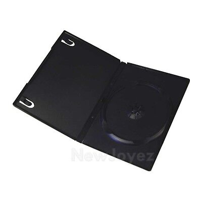 100 Premium Standard 14mm Single CD DVD Black Movie Case Box Made By New Plastic