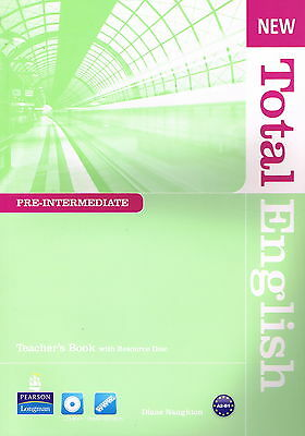 Longman NEW TOTAL ENGLISH Pre-Intermediate Teacher's Book w Resource Disc @NEW@