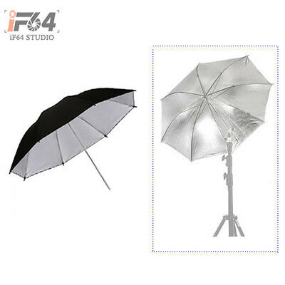 "Photography 40 "" Umbrella / 102cm Studio Reflective Silver/Black Flash Diffuser"