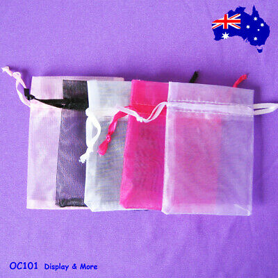 SUPER DEAL 200 Organza Jewellery Gift Pouch Bag-7.5x9cm | AUSSIE Seller