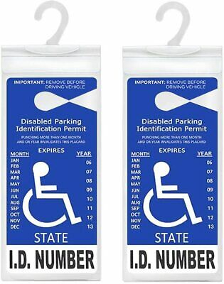2pcs Handicap Disabled Parking Permit Placard Protector Holder Mirror Tag Sleeve