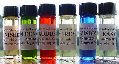 1 x HOLY ANOINTING OIL 5ml Wicca Witch Pagan Spell ALTAR & TOOLS CONSECRATION
