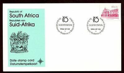 South Africa 1984 Afrikaanse Akademie, Date Stamp Card #C10108