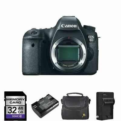 Canon EOS 6D Digital Camera - Black (Body Only) + 2 Batteries, 32GB + More!