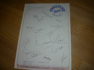 OVALTINE Rebels Hemel Hemp.  Basketball Original Hand SIGNED A4 Letter Head Page