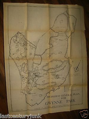 Prososed Plans For Gwynne Park 1966 Huntington Long Island