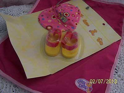 Zapf Creations BABY CHOU CHOU DOLL NEW Spotted Cap & Sandals plus Play Mat