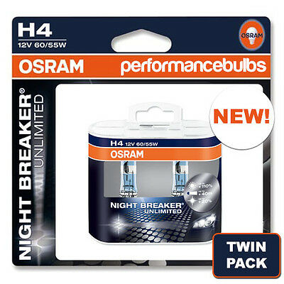 New! Osram H4 Night Breaker Plus Nightbreaker Bulbs H4