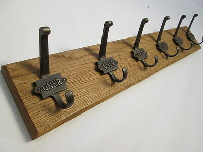 9 sizes SOLID ENGLISH OAK WOODEN HAT AND & COAT HOOKS HANGER PEGS RAIL RACK 33
