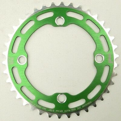 Porkchop BMX single speed bicycle Chop Saw I Chainring 42T 4 bolt 104 bcd GREEN