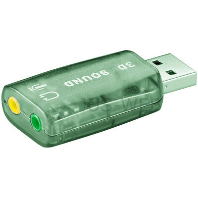 USB 2.0 externe Soundkarte - 2x 3,5mm Klinke-Buchse stereo Audio IN / OUT uce