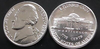 1984 D Brilliant Uncirculated Jefferson Nickel. Free Shipping.