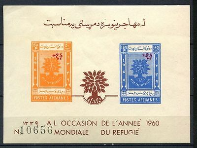 Afghanistan 1960 SG#MS486a World Refugee Year MNH optd Imperf M/S #A32407